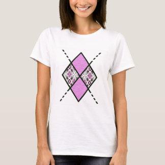 Pink-001 Argyle Pattern T-Shirt