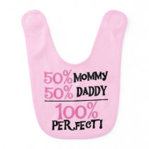 Pink 100 Percent Perfect Bib
