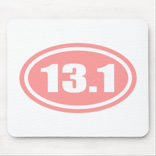 Pink 13.1 Half Marathon Oval Mouse Pad