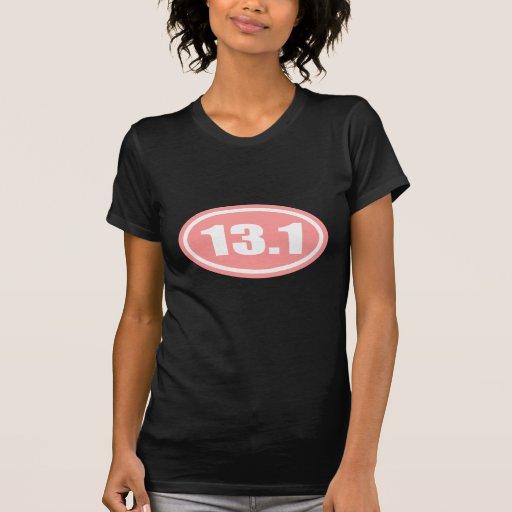 Pink 13.1 Half Marathon Oval T-Shirt