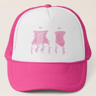 Pink 1908 Corset Illustration Trucker Hat