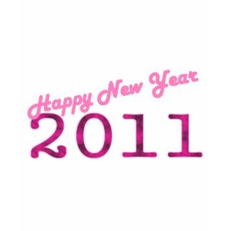 pink 2011 Happy New Year shirt