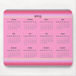 Pink 2013 Calendar Mousepad