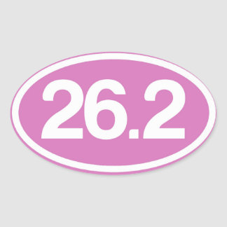 Pink 26.2 Full Marathon Sticker