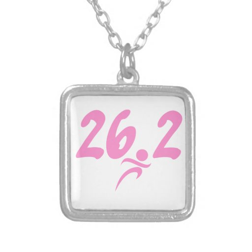 Pink 26.2 marathon custom necklace