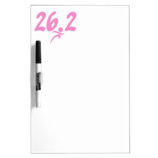 Pink 26.2 marathon Dry-Erase board