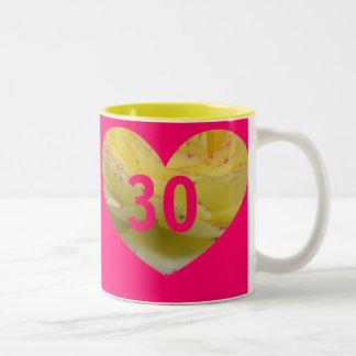 Pink 30th Birthday Heart Gift Mug
