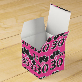 PINK 30th Birthday Party Favor Box - 30th Bday