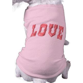 Pink 3D LOVE Pet Clothes