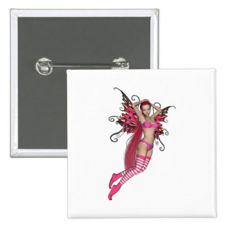 Pink 3D Pixie - Fairy Graphic 2 Pin