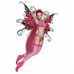 Pink 3D Pixie - Fairy Graphic 2 Photo Cutouts