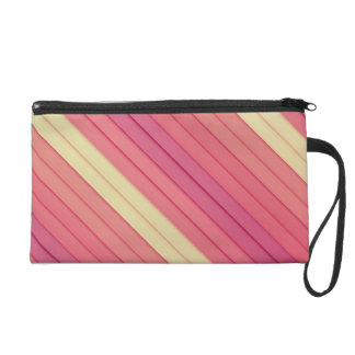 Pink 3D Stripes Wristlet Purses