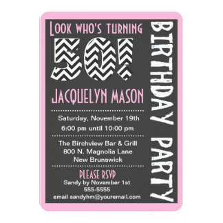 Pink 50 Already Custom Birthday Invitation