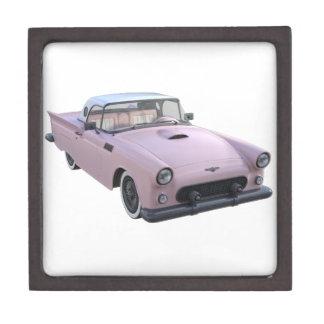 Pink 50's Sports Car Keepsake Box