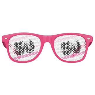 Pink 50th Birthday Custom Wayfarer Party Shades