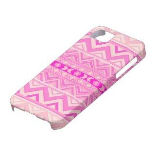 Pink #5 - Aztec iPhone 5 Case