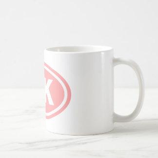 Pink 5 K Runner Oval Coffee Mug