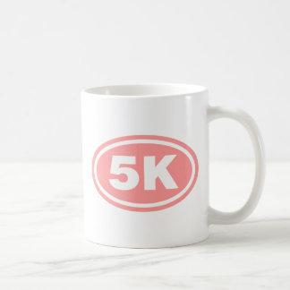 Pink 5 K Runner Oval Mug