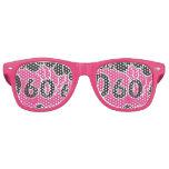 PINK 60th Birthday Retro Sunglasses