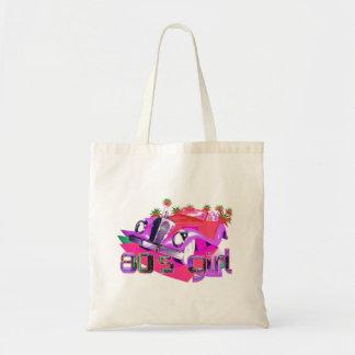 Pink 80's Girl Tote Bag