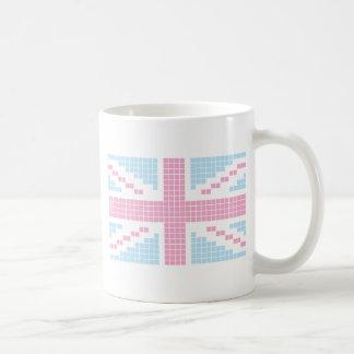 Pink 8-bit Pixels Union Jack British(UK) Flag Classic White Coffee Mug