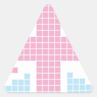 Pink 8-bit Pixels Union Jack British(UK) Flag Stickers
