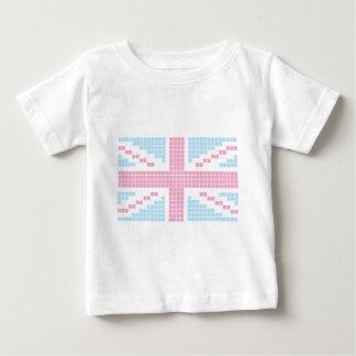 Pink 8-bit Pixels Union Jack British(UK) Flag T Shirt