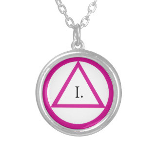 Pink AA Symbol Necklace - Customize Year