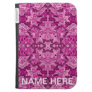 Pink Abatract Kindle Keyboard Cases