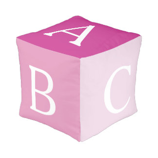 Pink ABC Alphabet Block Pouf