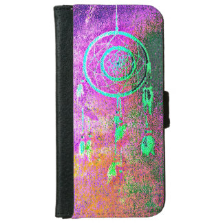 Pink Abstact Dreamcatcher iPhone 6/6s Wallet Case