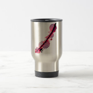 pink abstract 15 oz stainless steel travel mug