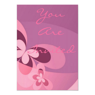 Pink Abstract Butterfly Card