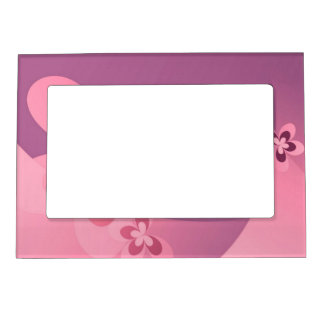 Pink Abstract Butterfly Magnetic Photo Frame