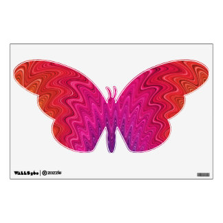 Pink Abstract Butterfly Wall Decals