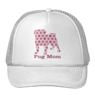 Pink Abstract Cherry Blossom Pug Tees, Gifts Trucker Hat