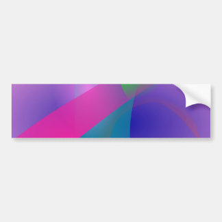 Pink Abstract Clear-Cut Outlines Bumper Stickers