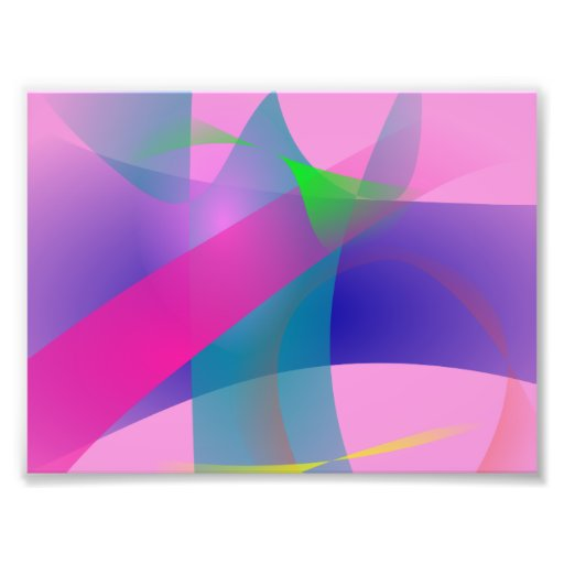 Pink Abstract Clear-Cut Outlines Photograph