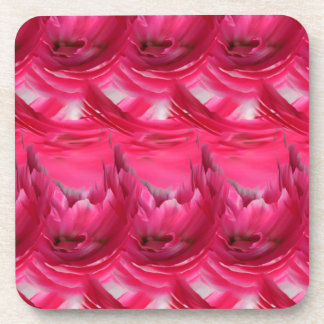 Pink Abstract Coasters