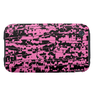Pink Abstract Crackle Tough iPhone 3 Covers