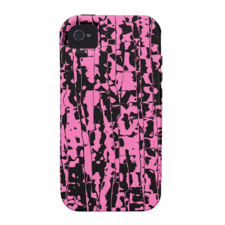 Pink Abstract Crackle Case-Mate iPhone 4 Covers