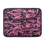 Pink Abstract Crackle MacBook Pro Sleeves