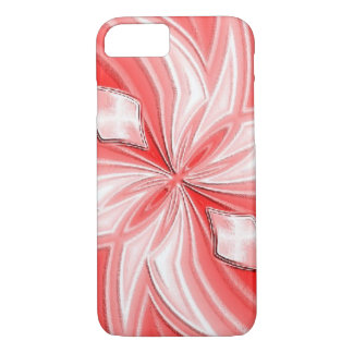 Pink Abstract Design iPhone Case