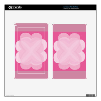Pink Abstract Design on Kindle Fire Skin