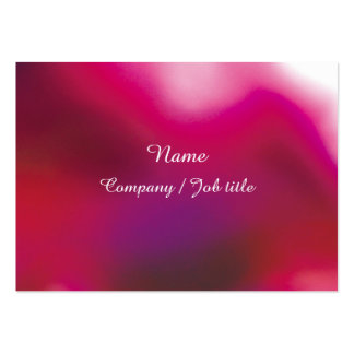 Pink Abstract Energic Vital Businesscard Large Business Card