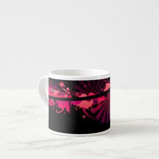 pink abstract expresso mug