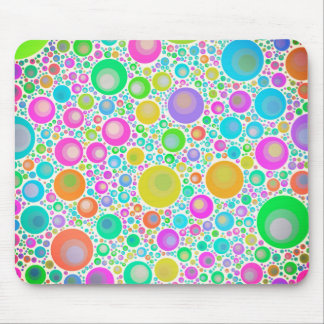 Pink Abstract Flower Garden Mouse Pad