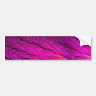 Pink Abstract Fractal Background Bumper Sticker