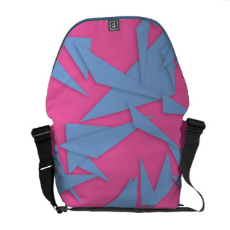 Pink Abstract Futuristic Messenger Bags