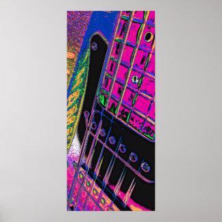 Pink Abstract Guitar by Kara Willis Print